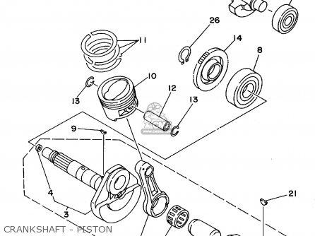 Yamaha Yfb250g 1995 parts list partsmanual partsfiche