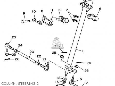 Yamaha Yfm100b 1991 parts list partsmanual partsfiche