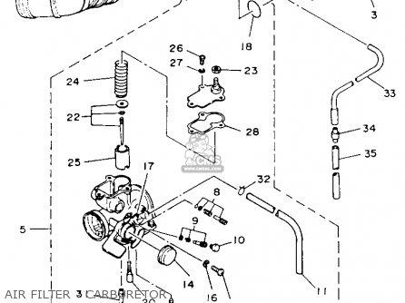 Yamaha YFM100T 1987 parts lists and schematics