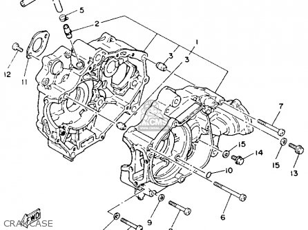 Yamaha Yfm100u 1988 Champ parts list partsmanual partsfiche