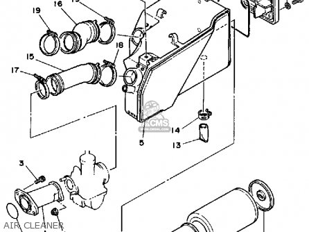 Yamaha Yfm200dxs 1986 1nu Usa parts list partsmanual