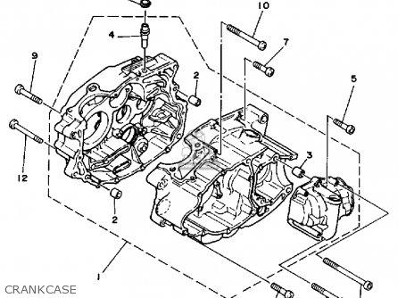 Yamaha Yfm200dxs 1986 parts list partsmanual partsfiche