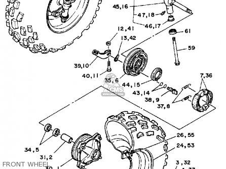 Yamaha Yfm200dxs 1986 Usa parts list partsmanual partsfiche
