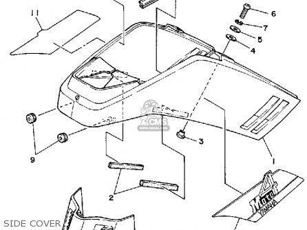 Yamaha YFM200DXT MOTO-4 1987 parts lists and schematics