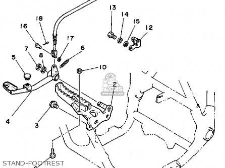 Yamaha Yfm200dxt Moto-4 1987 parts list partsmanual partsfiche