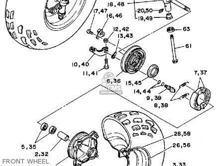 Yamaha YFM200DXU 1988 MOTO-4 parts lists and schematics