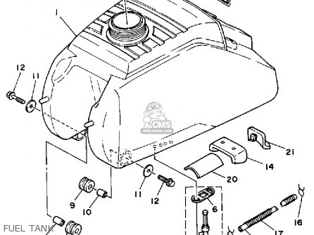 Yamaha YFM200DXU 1988 MOTO-4 parts lists and schematics