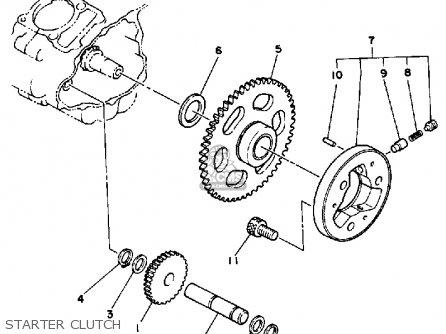 Yamaha Yfm200dxu 1988 Moto-4 parts list partsmanual partsfiche