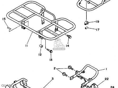 Yamaha Yfm200dxu Moto-4 1988 parts list partsmanual partsfiche