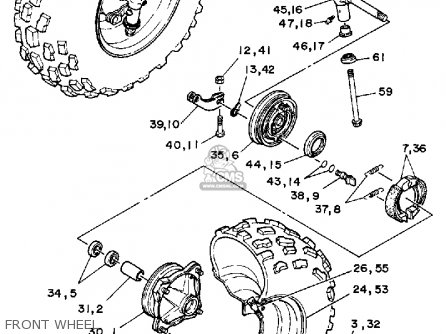Yamaha Yfm200n 1985 Moto-4 parts list partsmanual partsfiche