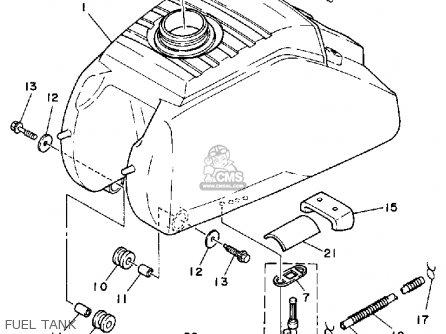 Yamaha Yfm200n Moto-4 1985 parts list partsmanual partsfiche