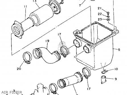 Yamaha Yfm225s 1986 parts list partsmanual partsfiche