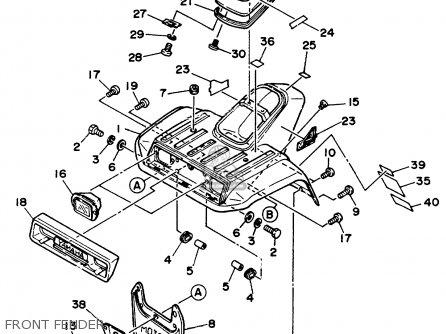 Yamaha YFM225U 1988 ALL COUNTRIES parts lists and schematics