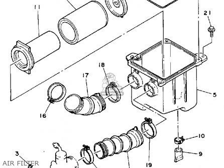 Yamaha Yfm250a 1990 parts list partsmanual partsfiche