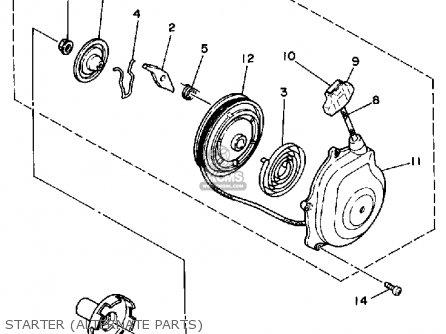 Yamaha YFM250A 1990 parts lists and schematics