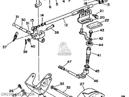 Yamaha Yfm250b 1991 parts list partsmanual partsfiche