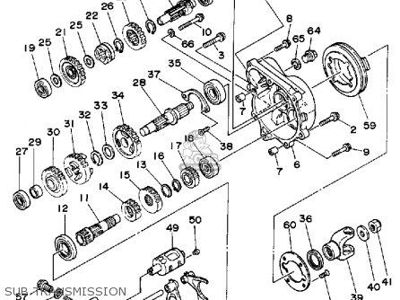 Yamaha Yfm250w Moto-4 1989 parts list partsmanual partsfiche