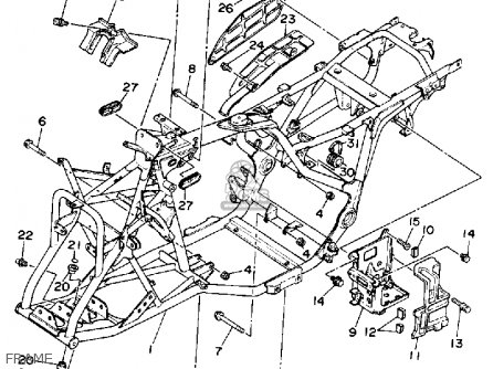 Yamaha YFM350ERA 1990 parts lists and schematics