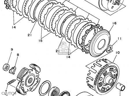 Yamaha Yfm350erf 1994 parts list partsmanual partsfiche