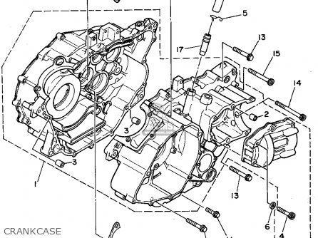 Yamaha Yfm350erf 1994 parts list partsmanual partsfiche
