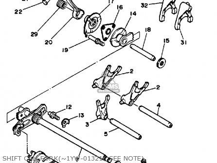 Yamaha Yfm350ert 1987 parts list partsmanual partsfiche