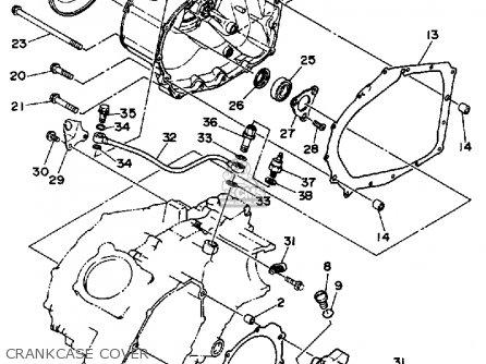 Yamaha Yfm350eru 1988 parts list partsmanual partsfiche