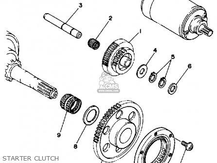 Yamaha YFM350ERU 1988 parts lists and schematics