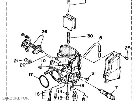 Yamaha YFM350ERW MOTO-4 1989 parts lists and schematics