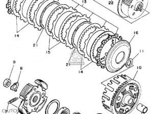 Yamaha Yfm350erw Moto4 1989 parts list partsmanual partsfiche