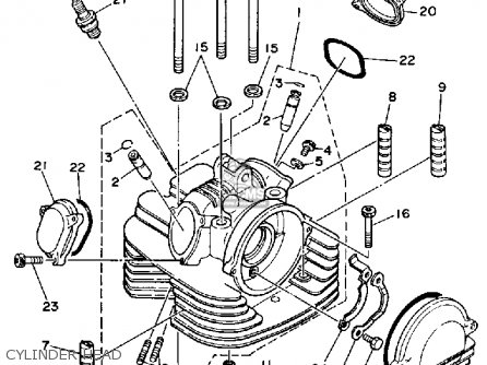 Yamaha Yfm350erw Moto-4 1989 parts list partsmanual partsfiche