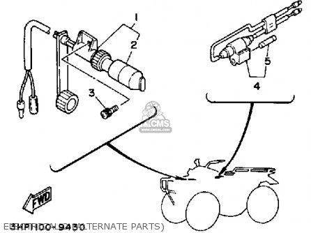 Yamaha YFM350ERW MOTO-4 1989 parts lists and schematics