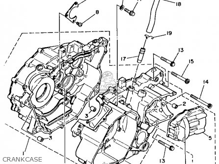 Yamaha YFM350FWB 1991 3HN6 BIG BEAR parts lists and schematics
