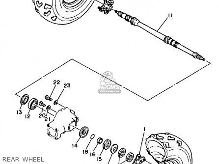 Yamaha YFM350FWB 1991 3HN6 BIG BEAR parts lists and schematics