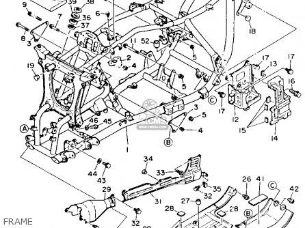 Yamaha Yfm350fwb 1991 parts list partsmanual partsfiche