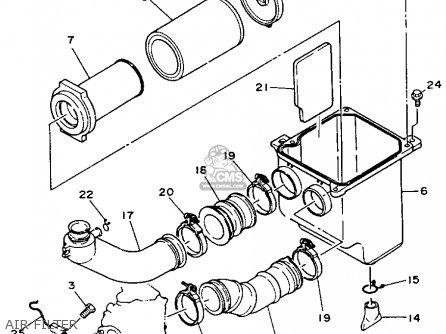 Yamaha Yfm350fwe 1993 parts list partsmanual partsfiche