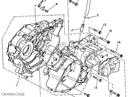 Yamaha Yfm350fwe 1993 parts list partsmanual partsfiche