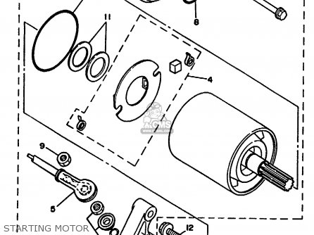 Yamaha YFM350FWE BIG BEAR 1993 parts lists and schematics