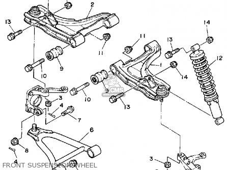 Yamaha Yfm350fwt 1987 2hr Big Bear parts list partsmanual