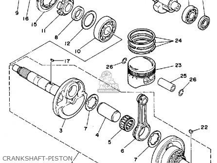 Yamaha Yfm350fwu 1988 2hr Big Bear parts list partsmanual