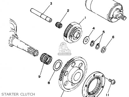 Yamaha YFM350FWU 1988 2HR BIG BEAR parts lists and schematics