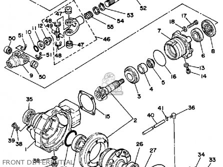 Yamaha YFM350FWW 1989 BIG BEAR parts lists and schematics