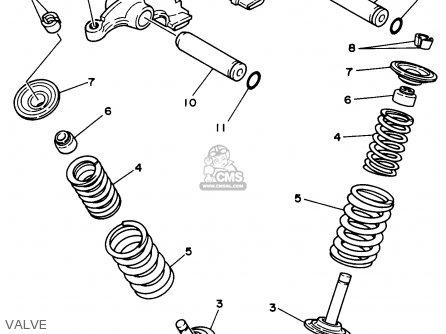 Yamaha Yfm350uh 1996 parts list partsmanual partsfiche