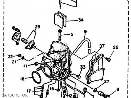 Yamaha YFM350XA WARRIOR 1990 USA parts lists and schematics