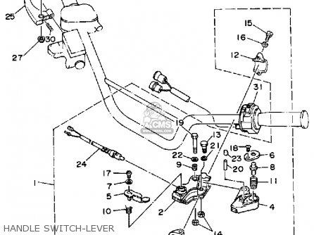 Yamaha Yfm350xb Maine New Hampshire 1991 parts list