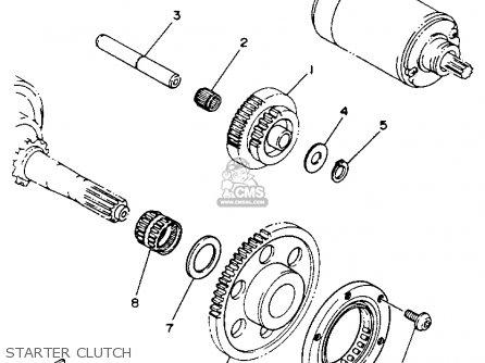 Yamaha YFM350XE WARRIOR 1993 USA parts lists and schematics