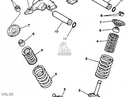 Yamaha Yfm350xt 1987 parts list partsmanual partsfiche