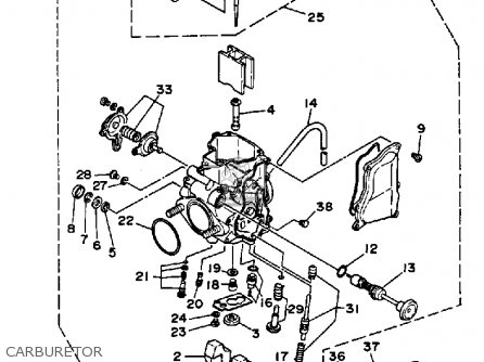 Yamaha YFM350XT 1987 WARRIOR parts lists and schematics