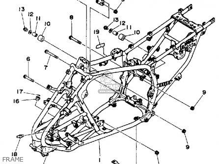 Yamaha Yfm350xt 1987 Warrior parts list partsmanual partsfiche