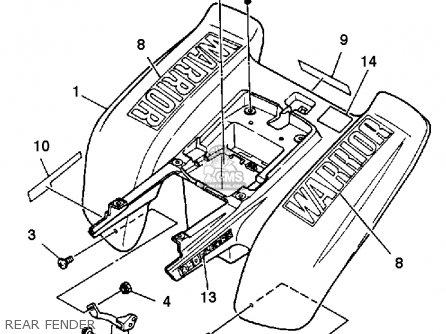 Yamaha YFM350XT 1987 WARRIOR parts lists and schematics