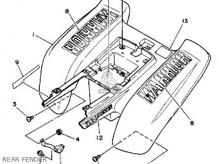 Yamaha YFM350XU 1988 2XK WARRIOR parts lists and schematics